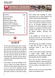 WPA-TPS Newsletter